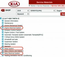 Locating ADAS Information: Kia