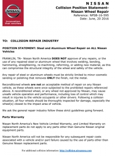 Nissan Position Statement - Seat Belt Replacement Considerations