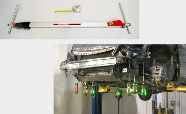 Figure 1 - Tape measures and tram gauges (top) are used for point-to-point measuring while computerized measuring systems (bottom) provide three-dimensional measurements.