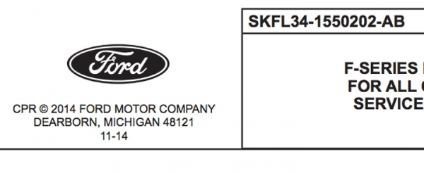 2015 Ford F-150 Collision Repair Sheets: Updates