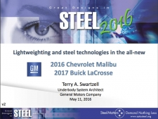 Great Designs in Steel 2016 Presentations: A Closer Look - 2016 Chevrolet Malibu and 2017 Buick LaCrosse