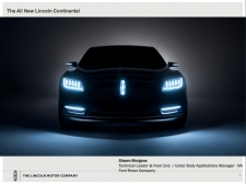 Great Designs in Steel 2016 Presentations: A Closer Look - 2016 Lincoln Continental D544