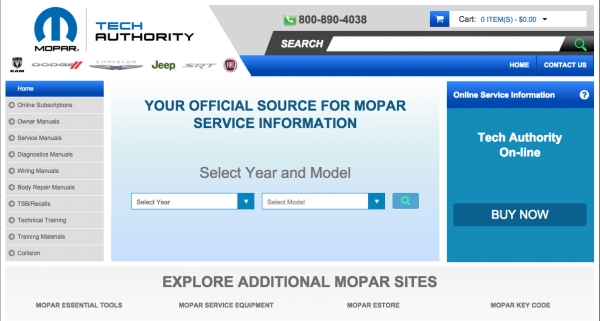 Fiat Chrysler Automobiles Has New Website Address For Repair Information