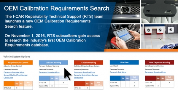 A Video Tour of the RTS Portal: OEM Calibration Requirements Search