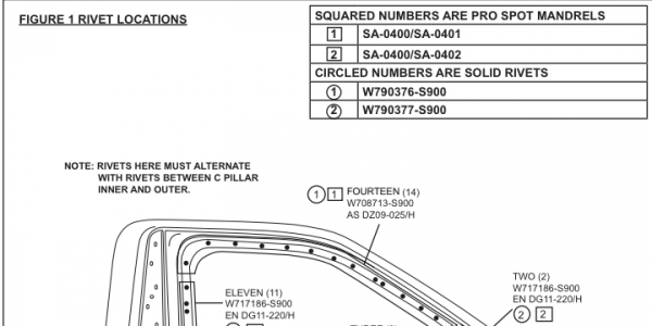 Ford F-150 Collision Repair Instruction Sheets Part Numbers