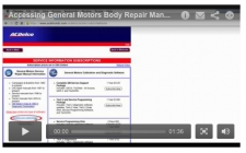 GM Body Repair Manual (Pay Site) Navigation Video Now Available
