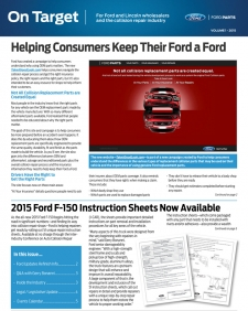 Ford On Target: 2015 Volume 1
