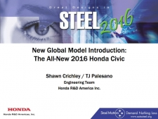 Great Designs in Steel 2016 Presentations: A Closer Look - 2016 Honda Civic