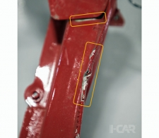 On the front module separation of an adhesively bonded joint will require part replacement.