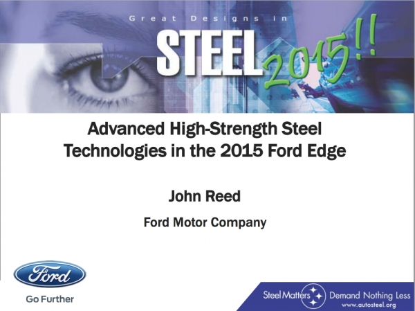 Great Designs in Steel 2015 Presentations: A Closer Look - 2015 Ford Edge