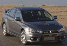 Figure 1 - (Mitsubishi media photo) This 2008 Mitsubishi Lancer Evolution has a rivet-bonded aluminum roof panel.