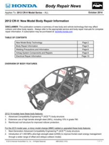 Honda Has Released Two New Body Repair News Bulletins