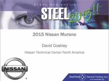 Great Designs in Steel 2015 Presentations: A Closer Look - 2015 Nissan Murano