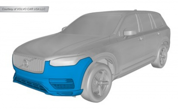 Figure 1 - Volvo XC90 front bumper repair restrictions. (Courtesy of VOLVO CAR USA LLC)