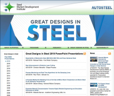 Great Designs in Steel 2019 Presentations Release
