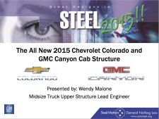 Great Designs in Steel 2015 Presentations: A Closer Look - 2015 GMC Canyon And Chevrolet Colorado