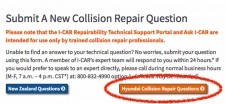 New Feature on Ask I-CAR: Hyundai Collision Repair Questions