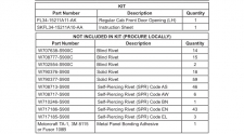2015 Ford F-150 Collision Repair Instruction Sheets, Why Are There So Many Part Numbers?