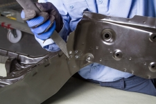 Disassembly of a Steel Service Part at a Factory Seam