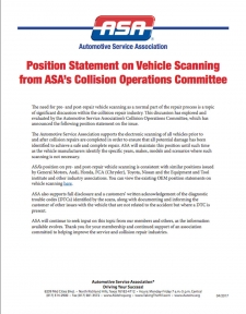 ASA Position Statement: Pre- and Post-Repair System Scanning
