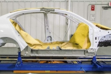 B-pillar and rocker panel reinforcements are often replaced at factory seams.