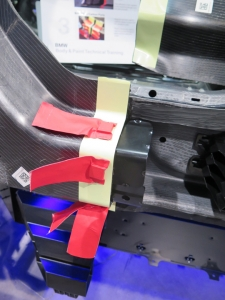 The magnets that temporarily hold the backing plate are extremely strong and must be used to complete the repair.