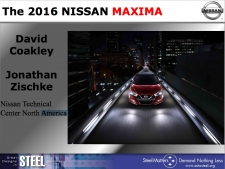 Great Designs in Steel 2015 Presentations: A Closer Look - 2016 Nissan Maxima